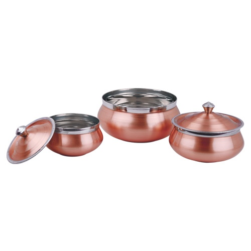 Mughlai-Handi-Set-(Copper-Finish)