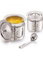 Vintage-Flora-Ghee-Pot-with-Lid-and-spoon-2